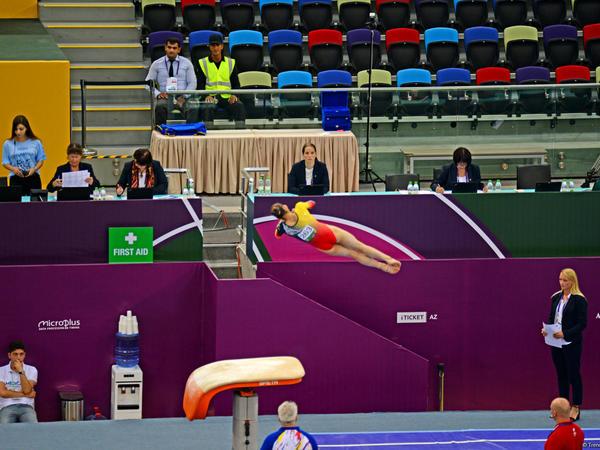 """""""EYOF Bakı 2019"""": Milli Gimnastika Arenasında idman gimnastikası üzrə yarışların 2-ci günü başlayıb - FOTO"""