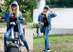 """Məleykə Əsədovanın motosiklet keyfi - <span class=""""color_red"""">FOTO</span>"""