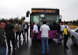 Sumqayıtda avtobus sürücüsü sükan arxasında öldü - VİDEO
