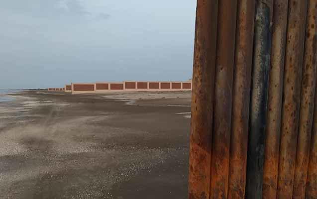 Pirşağı çimərliyində villa  hasarları söküldü - FOTO