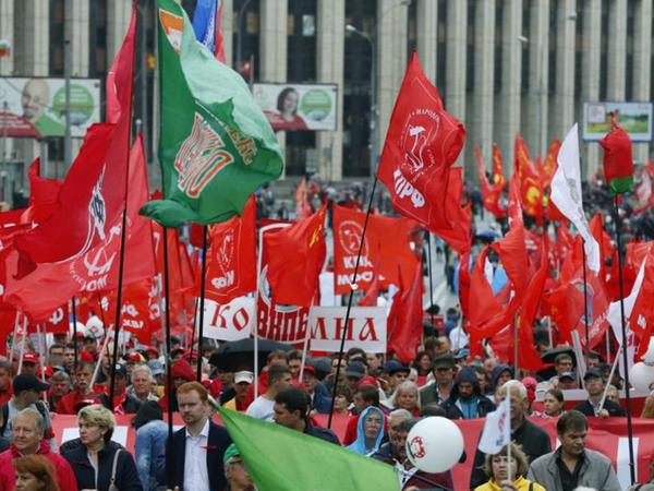 """Moskvada ədalətli seçki çağırışı ilə yürüş, <span class=""""color_red"""">piketlər keçirilir</span>"""