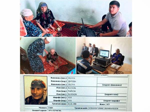 120 yaşlı qadına biometrik pasport verilib