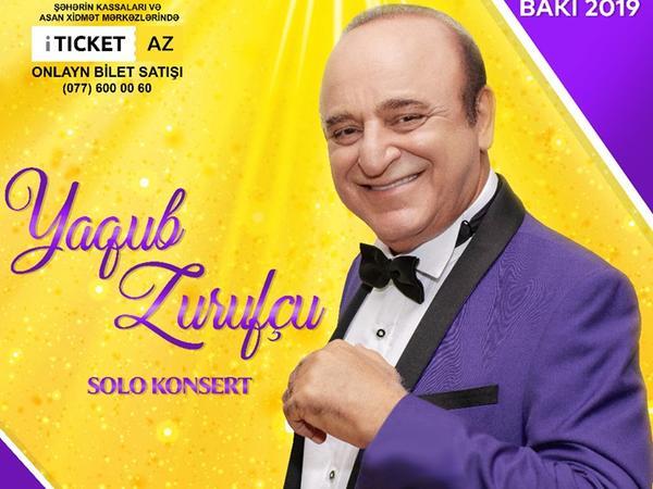 Yaqub Zurufçu Heydər Əliyev Sarayında konsert verəcək