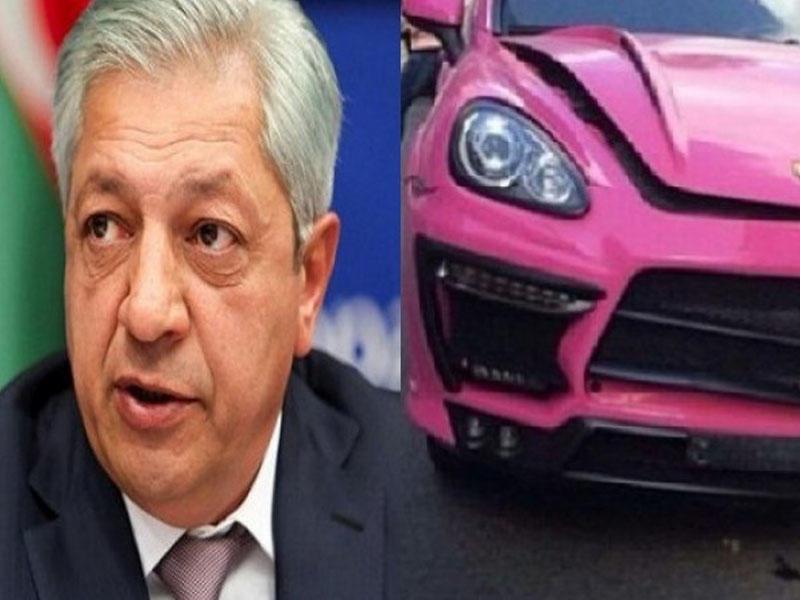 """Deputatın """"Porsche""""si ilə qəza törədən şəxsdən"""