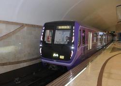 """Bakı metrosunda daha iki qatar xəttə buraxılıb - <span class=""""color_red"""">FOTO</span>"""