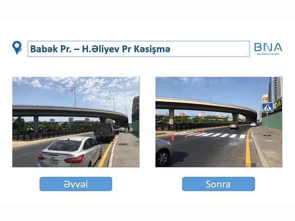 """Bu il Bakıda 1500-dən artıq yol nişanı yenilənib - <span class=""""color_red"""">FOTO</span>"""