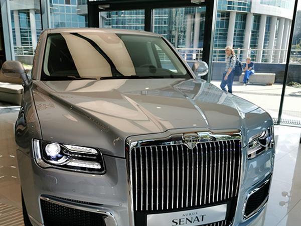 """Rusiyanın lüks &quot;Aurus&quot; avtomobilinin təqdimati keçirilib - <span class=""""color_red"""">FOTO</span>"""