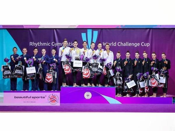 """Bədii gimnastlarımız """"Challenge"""" seriyasına aid Dünya Kubokunu 3 medalla bitirib"""