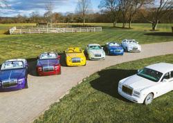 Kolleksiyaçı 12 müxtəlif rəngli Rolls-Royce avtomobiilərini toplayıb - FOTO