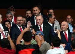 Ərdoğan Türkiyə-Andorra matçını izlədi
