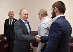 Putin Həbiblə görüşdü - VİDEO