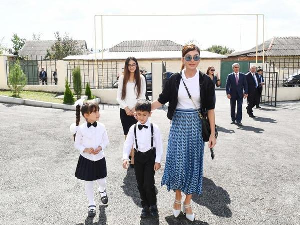 Birinci vitse-prezident Mehriban Əliyeva İsmayıllı şəhərində uşaq bağçasının açılışında iştirak edib - FOTO