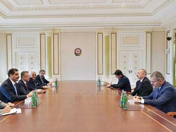 Prezident İlham Əliyev Türkiyənin Vitse-prezidentinin başçılıq etdiyi nümayəndə heyətini qəbul edib - FOTO
