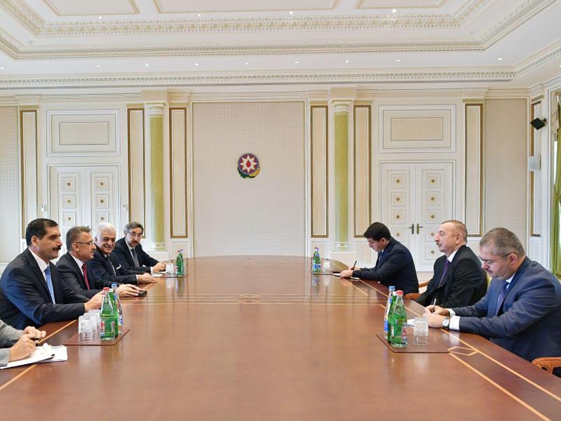 Prezident İlham Əliyev Türkiyənin Vitse-prezidentinin başçılıq etdiyi nümayəndə heyətini qəbul edib