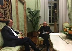 Elmar Məmmədyarov Vatikanın katibi ilə görüşüb - FOTO