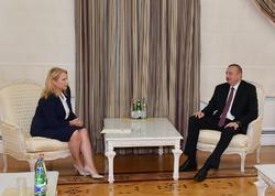 Prezident İlham Əliyev Gürcüstanın İqtisadiyyat və Davamlı İnkişaf nazirini qəbul edib - FOTO