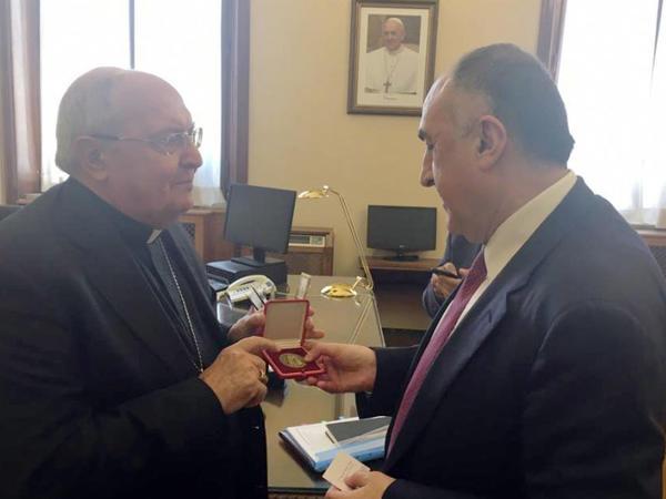 Elmar Məmmədyarov Vatikan Şərq Kilsələrinin Konqreqatı ilə görüşüb - FOTO