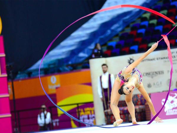 Bakıda keçirilən Bədii Gimnastika üzrə Dünya Çempionatının üçüncü günündən ən maraqlı anlar  - FOTO