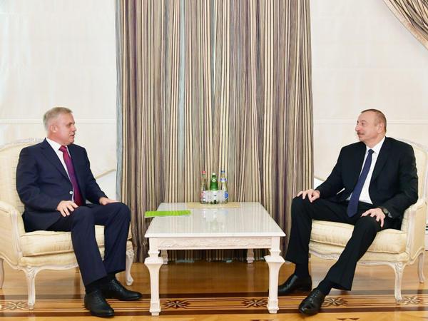Prezident İlham Əliyev Belarus Təhlükəsizlik Şurasının dövlət katibini qəbul edib - FOTO
