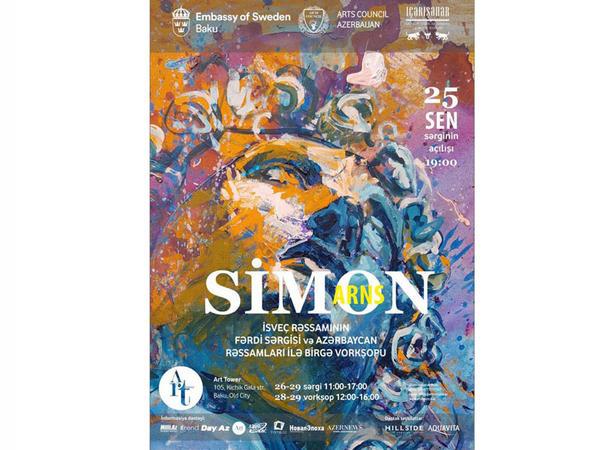 """""""Art Tower"""" rəsm qalereyasında isveçli rəssam Simon Arnsın fərdi sərgisinin açılışı olacaq"""