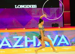 """Milli Gimnastika Arenasında bədii gimnastika üzrə dünya çempionatının çoxnövçülük üzrə finalı davam edir - <span class=""""color_red"""">FOTO</span>"""