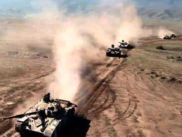 Ordumuz tanklardan və toplardan atəş açdı, döyüş təyyarələri və helikopterlər zərbələr endirdi - VİDEO - FOTO