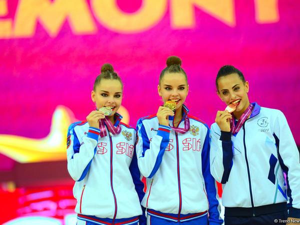 Milli Gimnastika Arenasında bədii gimnastika üzrə 37-ci dünya çempionatının mükafatlandırılması mərasimi keçirilib
