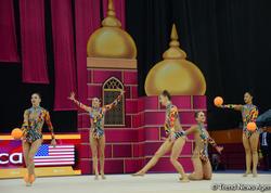 Bakıda bədii gimnastika üzrə dünya çempionatının 6-cı günü start götürüb - FOTO