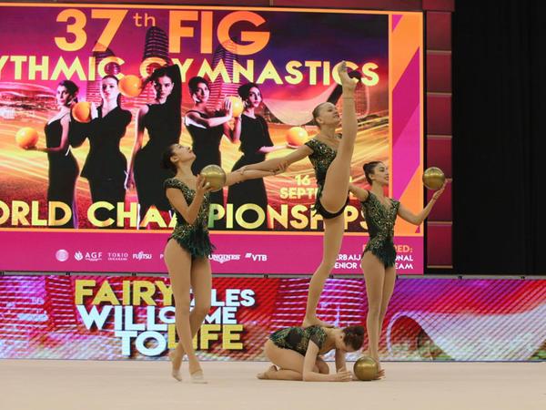 Bu gün Azərbaycanın qrup komandası Bakıda bədii gimnastika üzrə dünya çempionatında mübarizəyə qatılır
