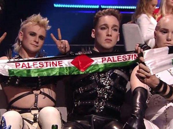 """""""Eurovision""""da Fələstin bayrağı açan ölkə cəzalandırıldı"""