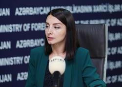 Leyla Abdullayeva: Ermənistan rəhbərliyinin sərgilədiyi mövqe öz xalqını aldatmaqdan başqa bir şey deyil