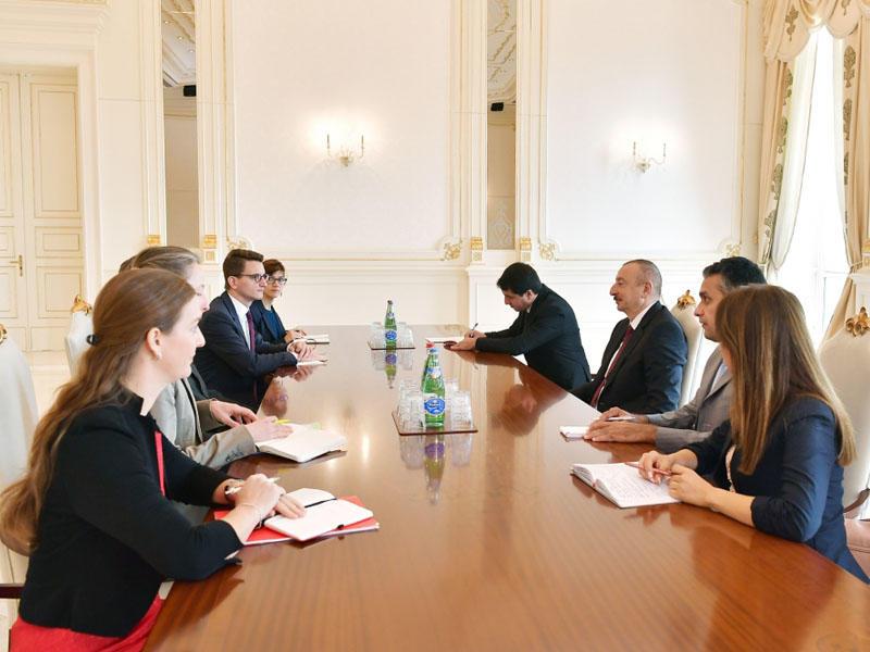 Prezident İlham Əliyev İsveçrənin Kantonlar Şurasının sədrini qəbul edib - FOTO