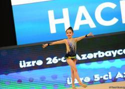 Bədii gimnastika üzrə Azərbaycan və Bakı birinciliyi və bölgələrarası kuboku yarışları davam edir - FOTO