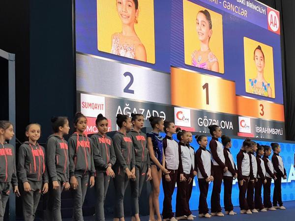 Bədii gimnastika üzrə 26-cı Azərbaycan və Bakı birinciliyinin qaliblərinin mükafatlandırma mərasimi keçirilib - FOTO