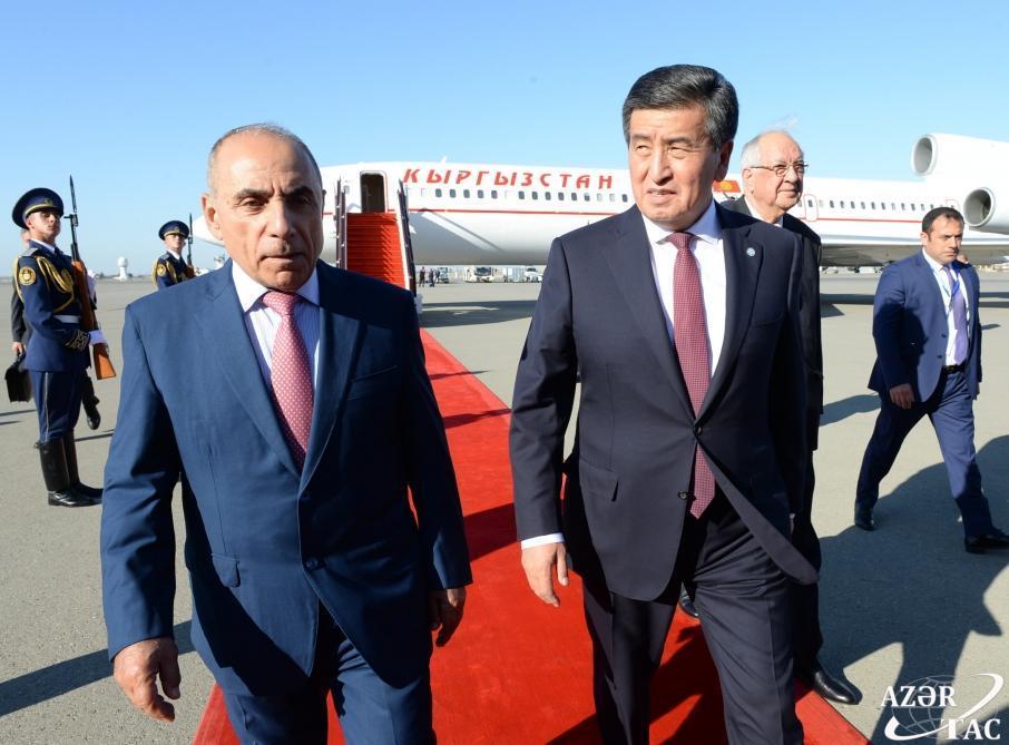 Qırğızıstan Prezidenti Sooronbay Jeenbekov Azərbaycana səfərə gəlib - FOTO