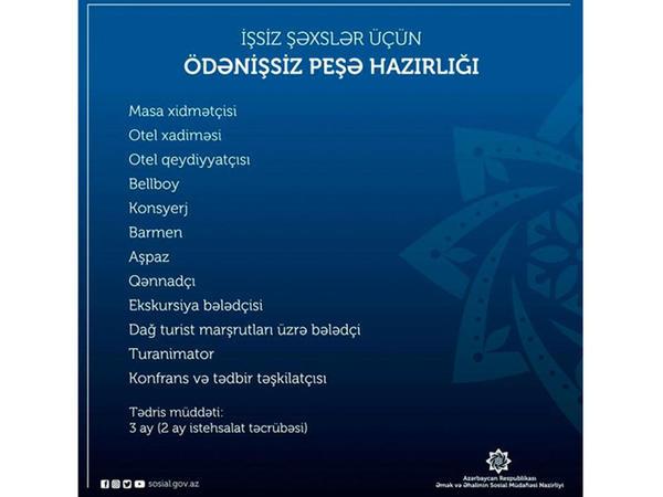 İşaxtaran və işsiz vətəndaşların nəzərinə!
