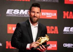 """Messi 6-cı dəfə &quot;Qızıl buts&quot; aldı - <span class=""""color_red"""">VİDEO</span>"""