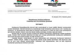 Avropadakı diaspor təşkilatları Azərbaycana qarşı təxribatçı çağırışlara etiraz edir