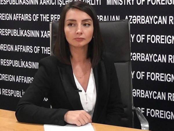 Leyla Abdullayeva: Azərbaycan bütün sənədlər əsasında substantiv danışıqların davam etdirilməsini hər zaman dəstəkləyib