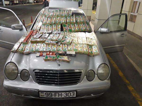 Azərbaycana gələn avtomobildə pirotexniki vasitələr aşkarlandı