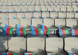 """Respublika Stadionunun tribunalarına 30 min bayraq düzüldü - <span class=""""color_red"""">FOTO</span>"""