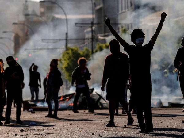 Çilinin paytaxtında nümayişçilər polis tərəfindən dağıdılır