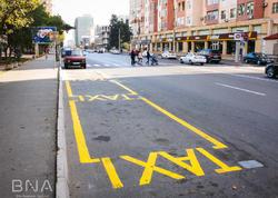 """Bakıda daha 12 küçədə taksi duracaqları yaradıldı - <span class=""""color_red"""">FOTO</span>"""