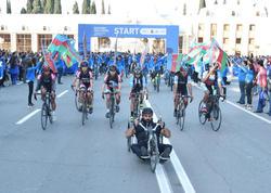 Gəncədə ilk velosiped yürüşü sakinlərin kütləvi iştirakı ilə yadda qaldı - FOTO