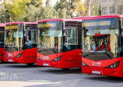 """Yeni gətirilən avtobuslar xəttə buraxılıb - <span class=""""color_red"""">FOTOlar</span>"""