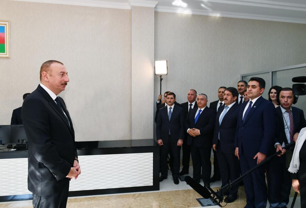 Prezident İlham Əliyev: Vətəndaşlara xidmət etmək bizim borcumuzdur