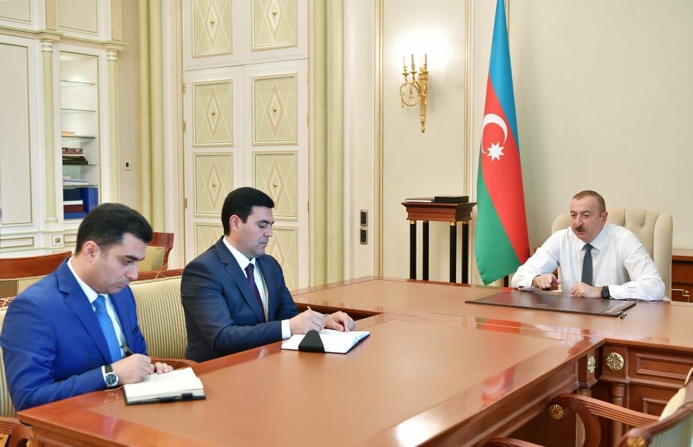 Prezident İlham Əliyev yeni icra başçılarını qəbul edib.
