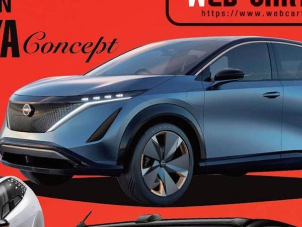 Nissan markasının ilk elektrik krossoveri debüt edəcək - FOTO