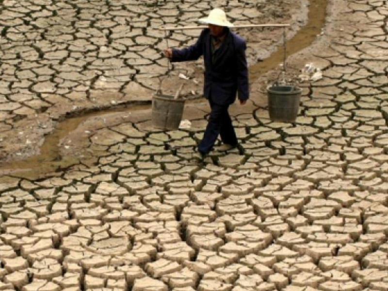 Şərqi Çində güclü quraqlıqdır
