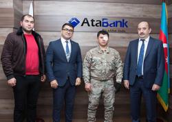 """""""AtaBank"""" ASC növbəti dəfə hərbçimizin kredit borcunu bağışladı"""
